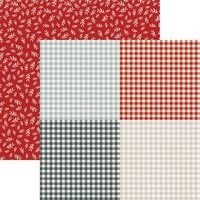Reminisce - 12 x 12 Double Sided Paper - Holiday Gingham