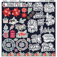 Reminisce - 12 x 12 Cardstock Stickers - Christmas Spruce