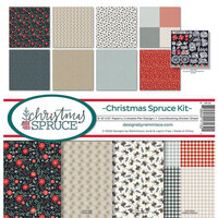 Reminisce - 12 x 12 Collection Kit - Christmas Spruce