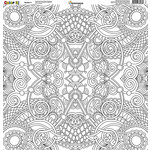 Reminisce - Color It Collection - 12 x 12 Single Sided Paper - Number 4