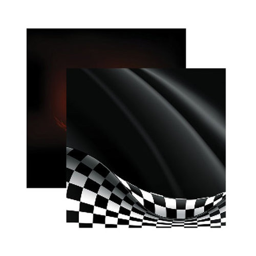 Reminisce - Checkered Flag Collection - 12 x 12 Double Sided Paper - Let's Go Racing