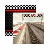 Reminisce - Checkered Flag Collection - 12 x 12 Double Sided Paper - Driven