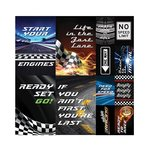 Reminisce - Checkered Flag Collection - 12 x 12 Cardstock Stickers - Poster