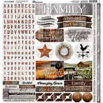 Reminisce - Country Life Collection - 12 x 12 Cardstock Stickers - Elements