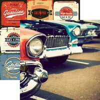 Reminisce - Classic Cars Collection - 12 x 12 Double Sided Paper - Car Show
