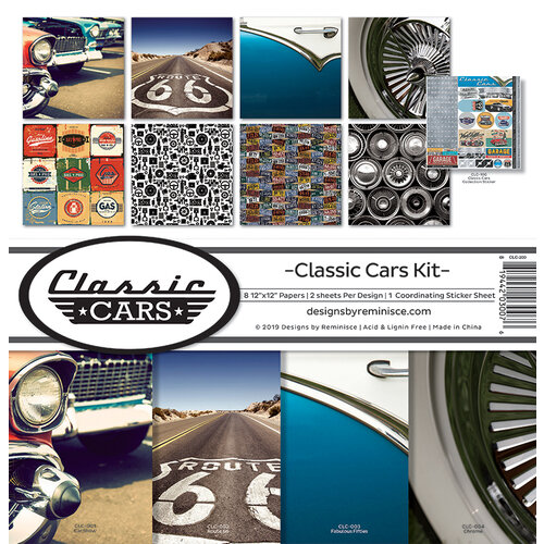 Reminisce - Classic Cars Collection - 12 x 12 Collection Kit