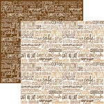 Reminisce - Coffee and Tea Collection - 12 x 12 Double Sided Paper - Coffeeology