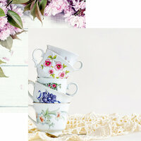Reminisce - Coffee and Tea Collection - 12 x 12 Double Sided Paper - Tea Time