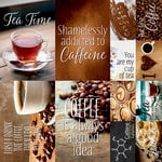 Reminisce - Coffee and Tea Collection - 12 x 12 Cardstock Stickers - Poster