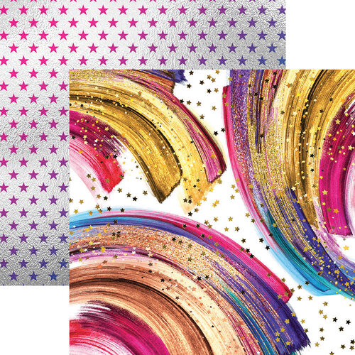 Reminisce - 12 x 12 Double Sided Paper - Dazzling Stars