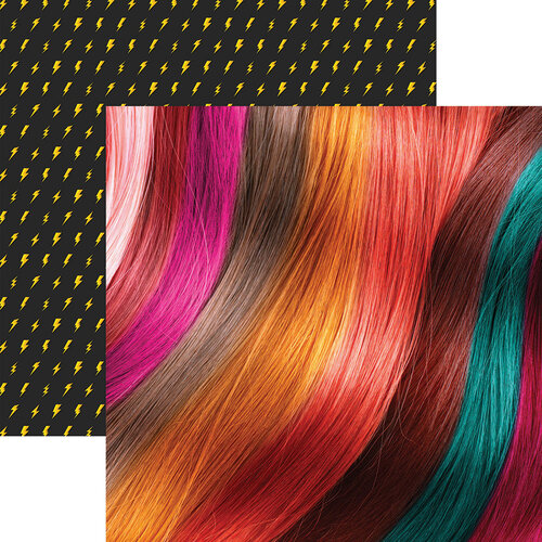 Reminisce - 12 x 12 Double Sided Paper - Vivid Wig