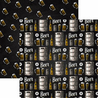 Reminisce - Craft Beer Collection - 12 x 12 Double Sided Paper - Cheers