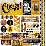 Reminisce - Craft Beer Collection - 12 x 12 Cardstock Stickers - Elements