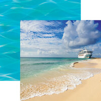 Reminisce - Cruise Life Collection - 12 x 12 Double Sided Paper - Ocean Cruise