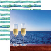 Reminisce - Cruise Life Collection - 12 x 12 Double Sided Paper - Let's Toast
