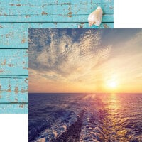 Reminisce - Cruise Life Collection - 12 x 12 Double Sided Paper - Sunset