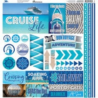 Reminisce - Cruise Life Collection - 12 x 12 Elements Sticker
