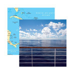 Reminisce - Caribbean Cruise Collection - 12 x 12 Double Sided Paper - Caribbean Cruise