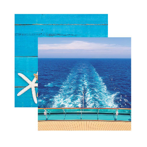 Reminisce - Caribbean Cruise Collection - 12 x 12 Double Sided Paper - Set Sail