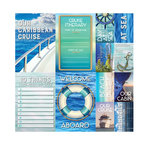 Reminisce - Caribbean Cruise Collection - 12 x 12 Cardstock Stickers - Poster