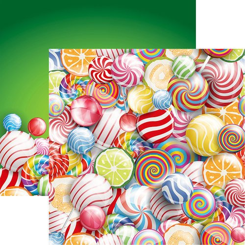 Reminisce - Candy Shoppe Collection - 12 x 12 Double Sided Paper - Candy