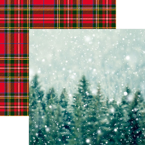Reminisce - Christmas Spirit Collection - 12 x 12 Double Sided Paper - Winter Wonderland