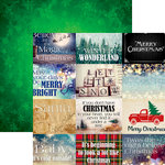 Reminisce - Christmas Spirit Collection - 12 x 12 Double Sided Paper - Christmas Spirit