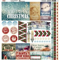 Reminisce - Christmas Spirit Collection - 12 x 12 Cardstock Stickers - Elements