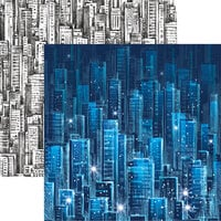 Reminisce - City Lights Collection - 12 x 12 Double Sided Paper Concrete Jungle