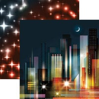 Reminisce - City Lights Collection - 12 x 12 Double Sided Paper City Nights