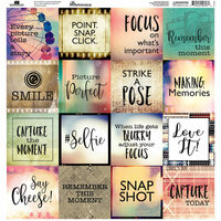 Reminisce - Capture the Moment Collection - 12 x 12 Cardstock Square Stickers