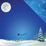 Reminisce - Christmas Town Collection - 12 x 12 Double Sided Paper - Snowy Night