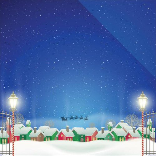 Reminisce - Christmas Town Collection - 12 x 12 Double Sided Paper - Christmas Town