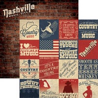 Reminisce - 100 Percent Country Collection - 12 x 12 Double Sided Paper - Country Rhythm