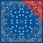 Reminisce - Cowboy Collection - 12 x 12 Double Sided Paper - Bandana