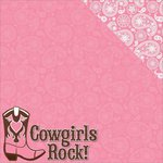 Reminisce - Cowgirl Collection - 12 x 12 Double Sided Paper - Cowgirls Rock