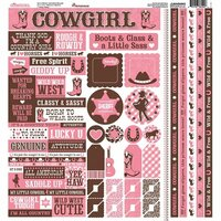 Reminisce - Cowgirl Collection - 12 x 12 Cardstock Stickers - Multi