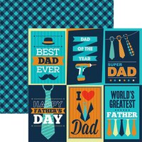 Reminisce - Dad's Life Collection - 12 x 12 Double Sided Paper - Sheet 03