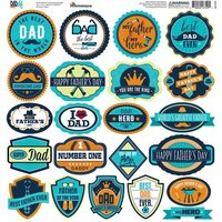 Reminisce - Dad's Life Collection - 12 x 12 Sticker Sheet - Labels