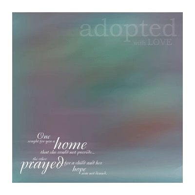 Reminisce - Adoption Collection - Patterned Paper - Adopted with Love