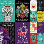 Reminisce - Dia De Los Muertos Collection - 12 x 12 Cardstock Stickers - Poster