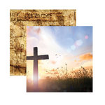 Reminisce - Devoted Faith Collection - 12 x 12 Double Sided Paper - Amazing Grace