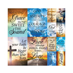 Reminisce - Devoted Faith Collection - 12 x 12 Cardstock Stickers - Poster