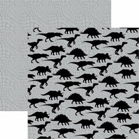 Reminisce - Dinosaur Land Collection - 12 x 12 Double Sided Paper - Back in Time