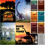 Reminisce - Dinosaur Land Collection - 12 x 12 Cardstock Stickers - Poster