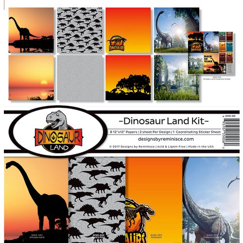 Reminisce - Dinosaur Land Collection - 12 x 12 Collection Kit