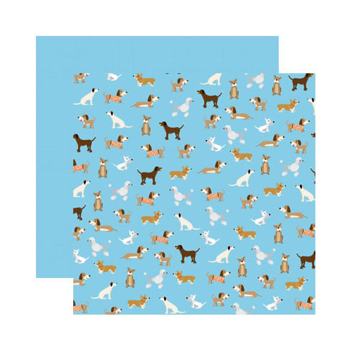 Reminisce - It's A Dog's Life Collection - 12 x 12 Double Sided Paper - The Gang's All Here