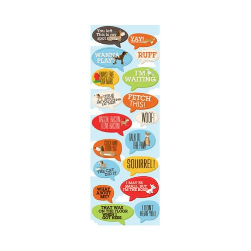 Reminisce - It's A Dog's Life Collection - Cardstock Stickers - Caption