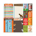Reminisce - It's A Dog's Life Collection - 12 x 12 Cardstock Stickers - Poster