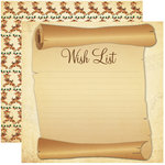 Reminisce - Dear Santa Collection - Christmas - 12 x 12 Double Sided Paper - Wish List